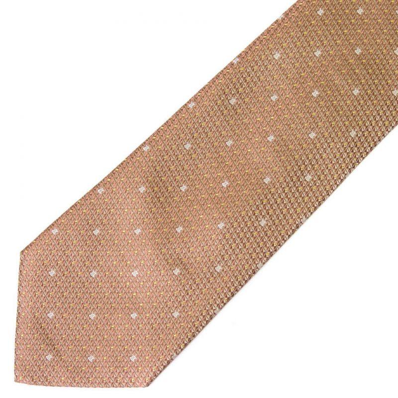 Светло-бронзовый шёлковый галстук Celine с выделкой