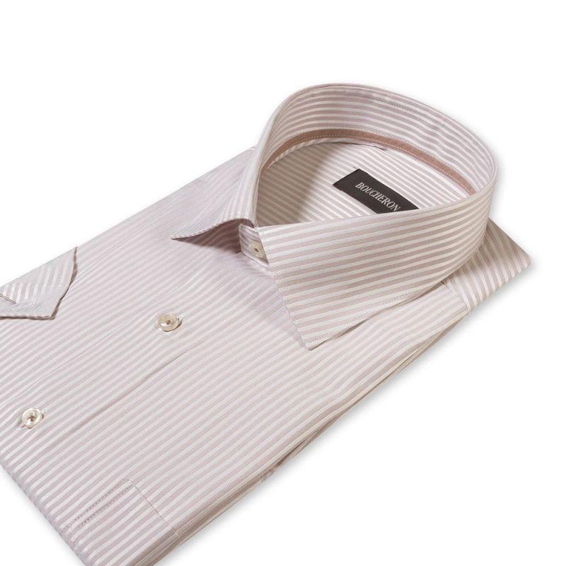 Рубашка в полоску с короткими рукавами неприталенная