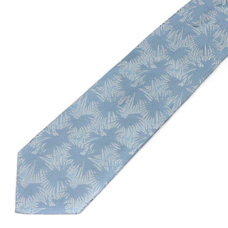 Голубой шёлковый галстук Celine с абстрактным узором