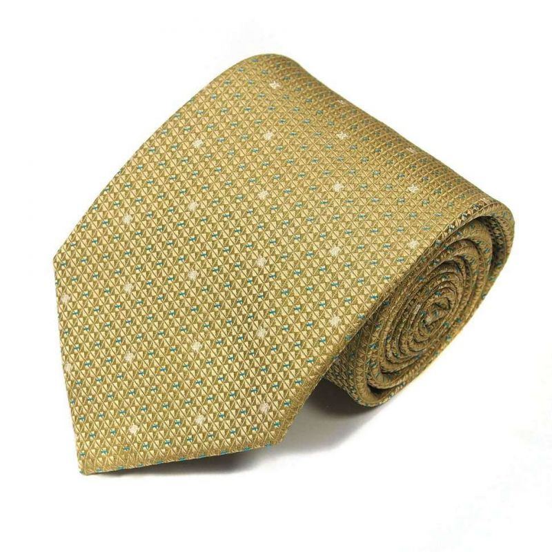 Салатовый шёлковый галстук Celine с мелкой выделкой