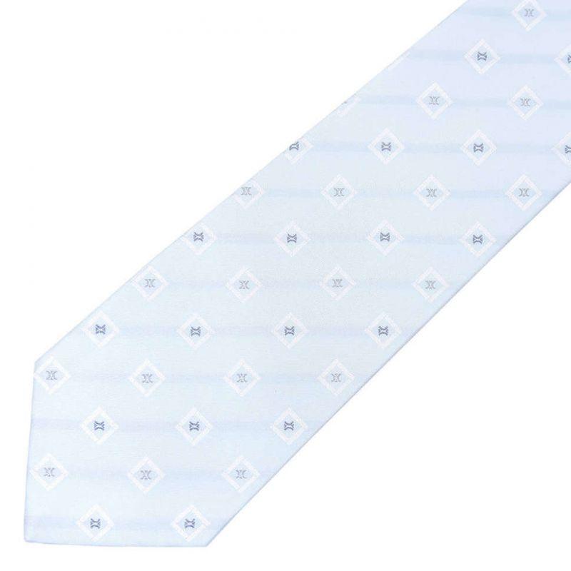 Светло-голубой шёлковый галстук Celine в клетку