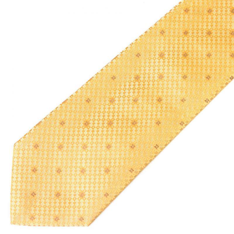 Жёлтый шёлковый галстук Celine с выделкой