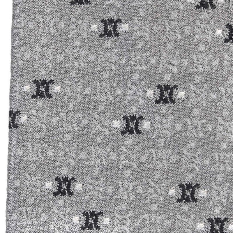 Серый шёлковый галстук Celine в клетку