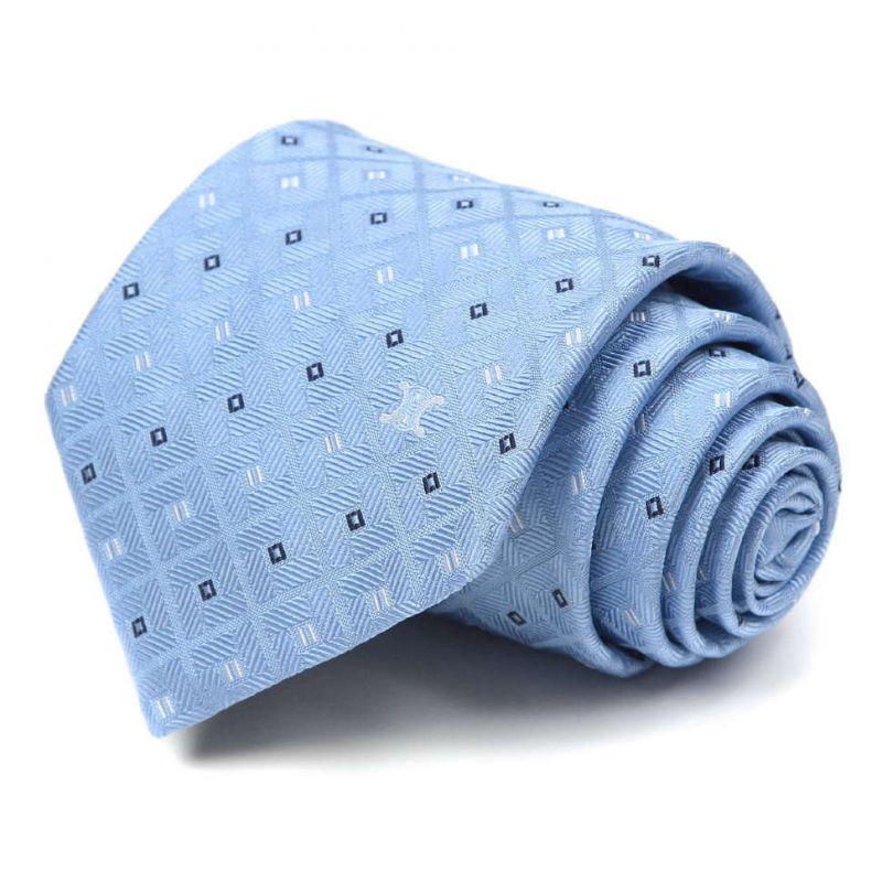 Голубой шёлковый галстук Celine жаккардовое плетение