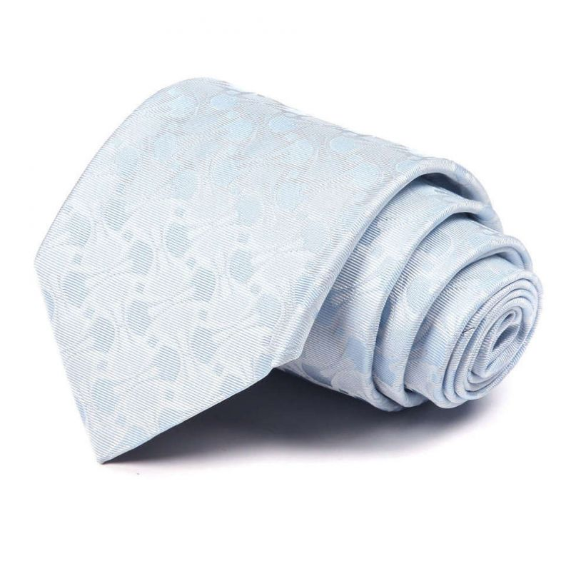 Бледно-голубой шёлковый галстук Celine с узором