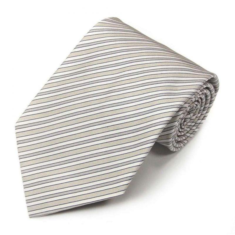 Серый шёлковый галстук Celine в диагональную полоску