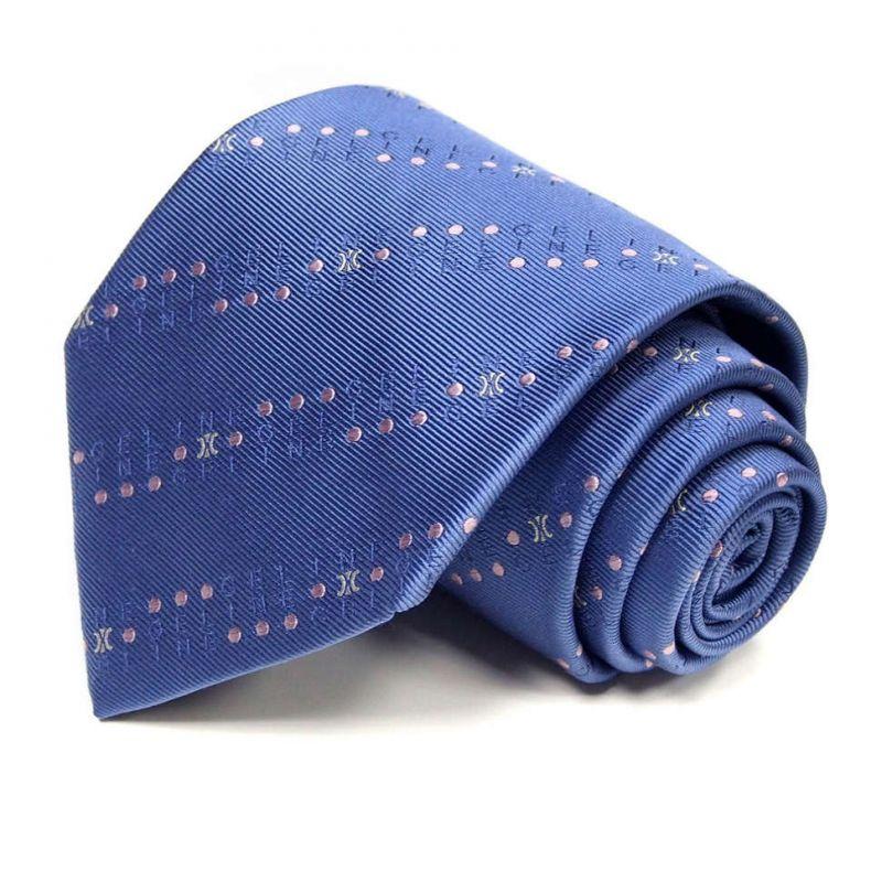Морской синий шёлковый галстук Celine с мелким рисунком