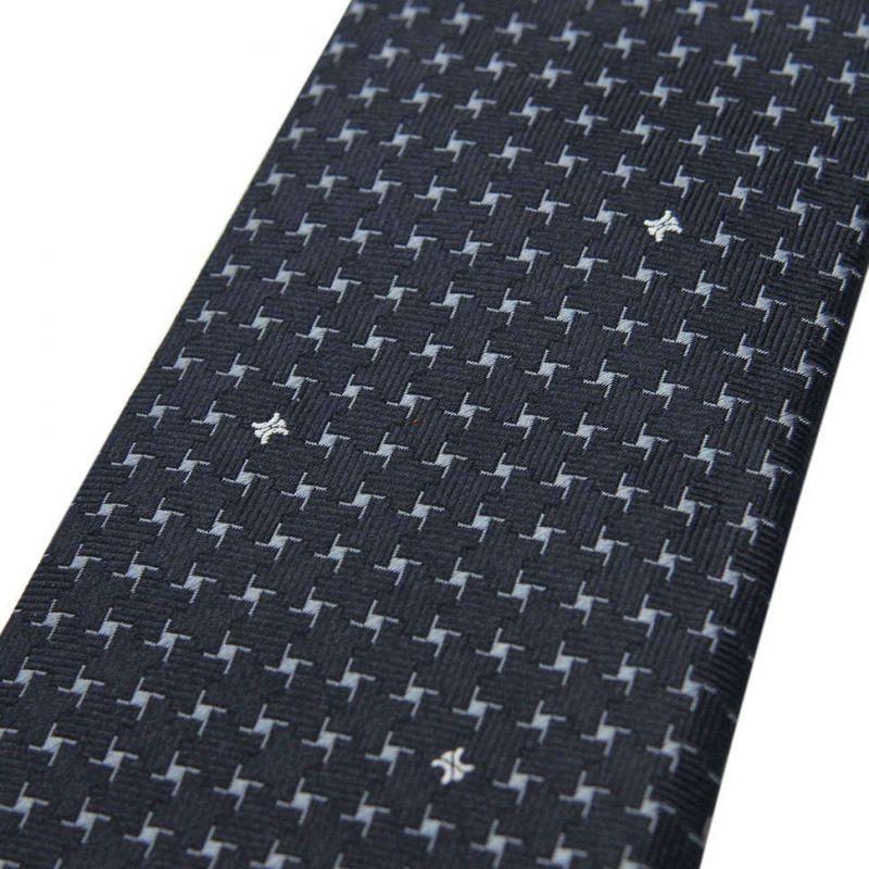 Чёрный шёлковый галстук Celine со звёздочками