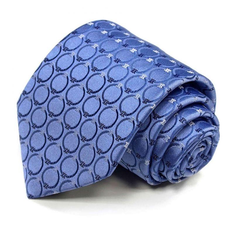 Синий шёлковый галстук Celine с кружками