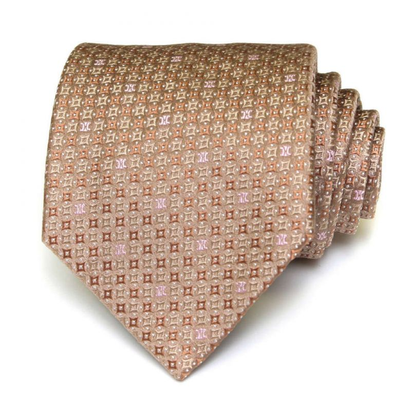 Коричневый шёлковый галстук Celine в клеточку