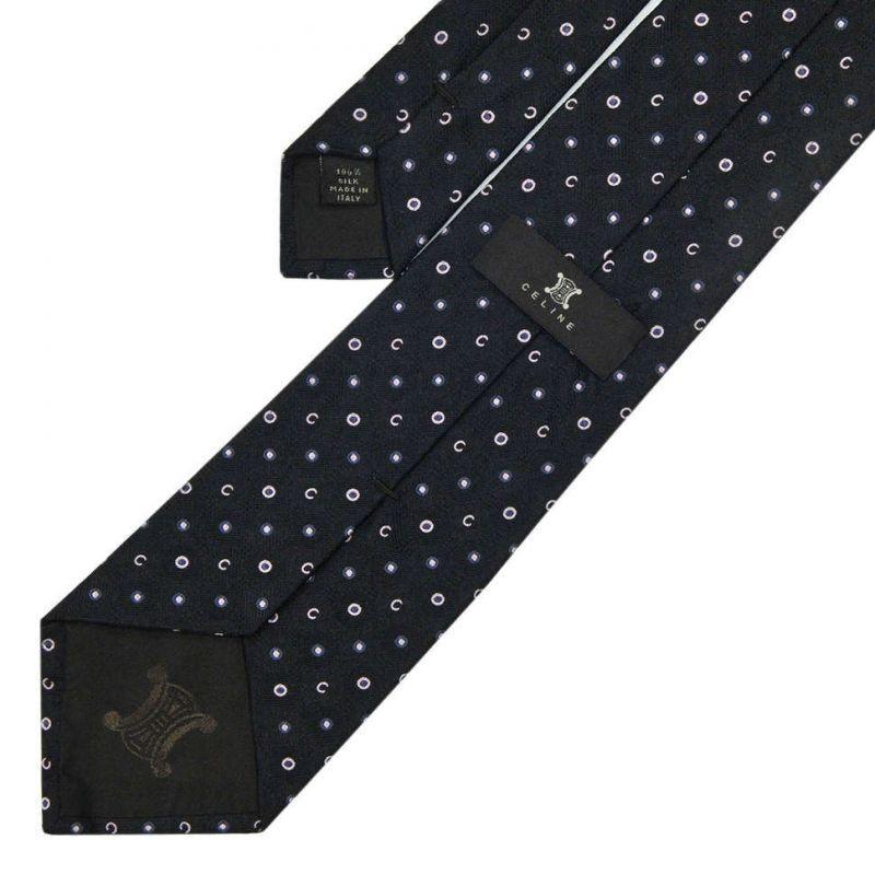 Чёрный галстук Celine из шёлка