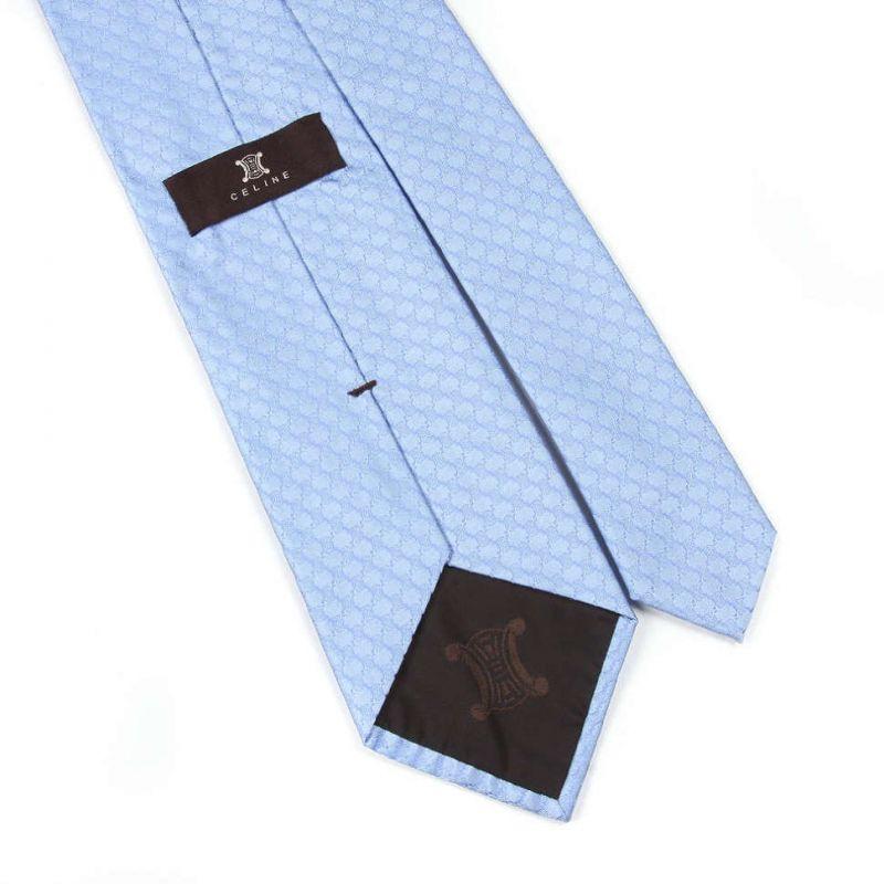 Голубой фактурный галстук Celine из шёлка