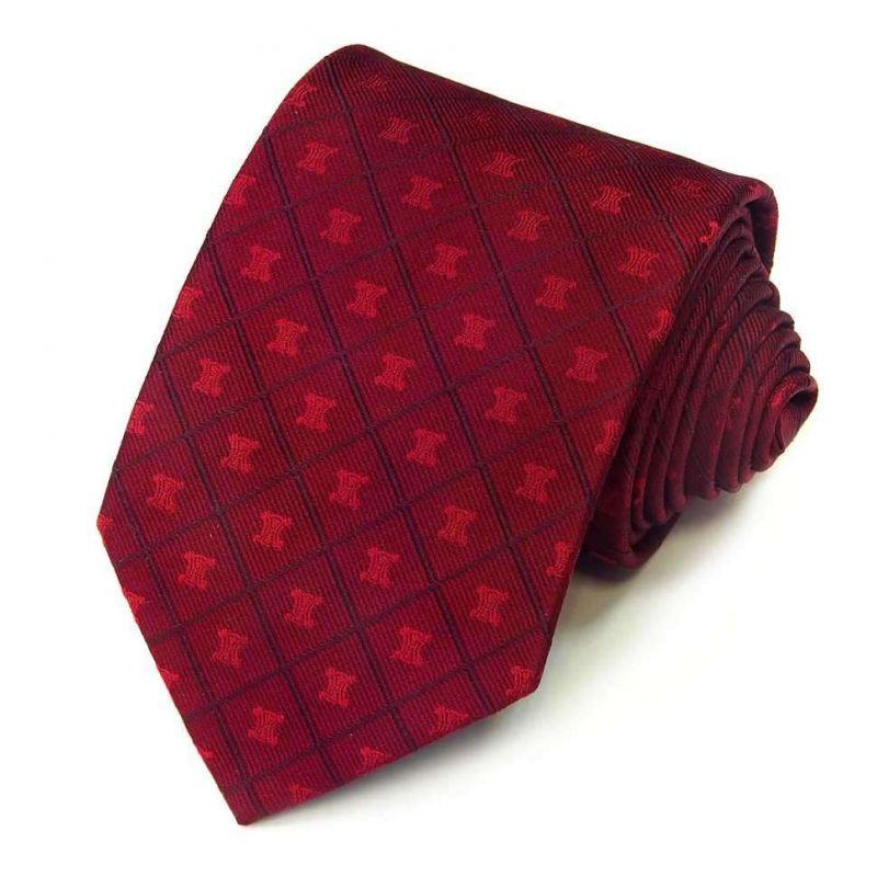Шёлковый галстук Celine винного цвета