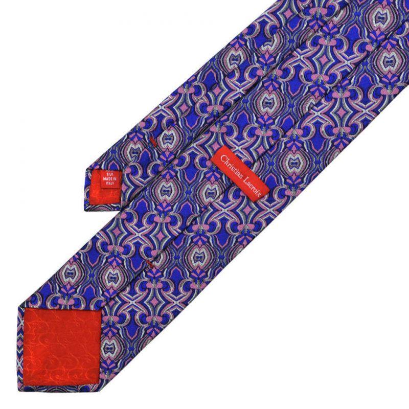 Синий галстук Сhristian Lacroix с узором в стиле калейдоскоп