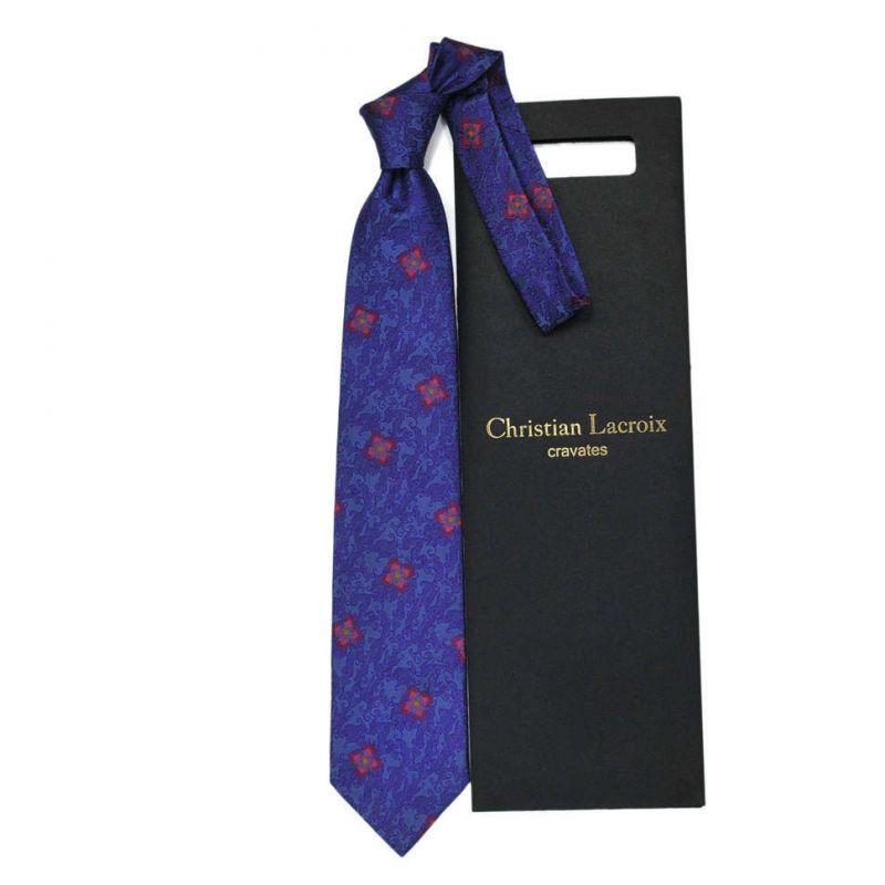 Синий галстук Сhristian Lacroix с узором