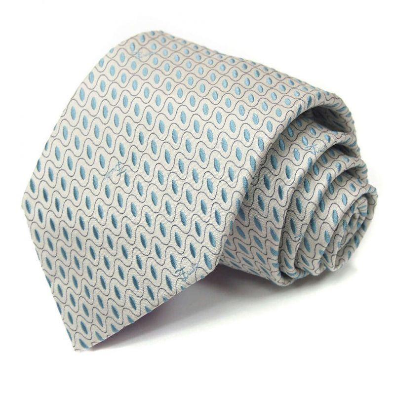 Серый галстук Emilio Pucci с классическим узором