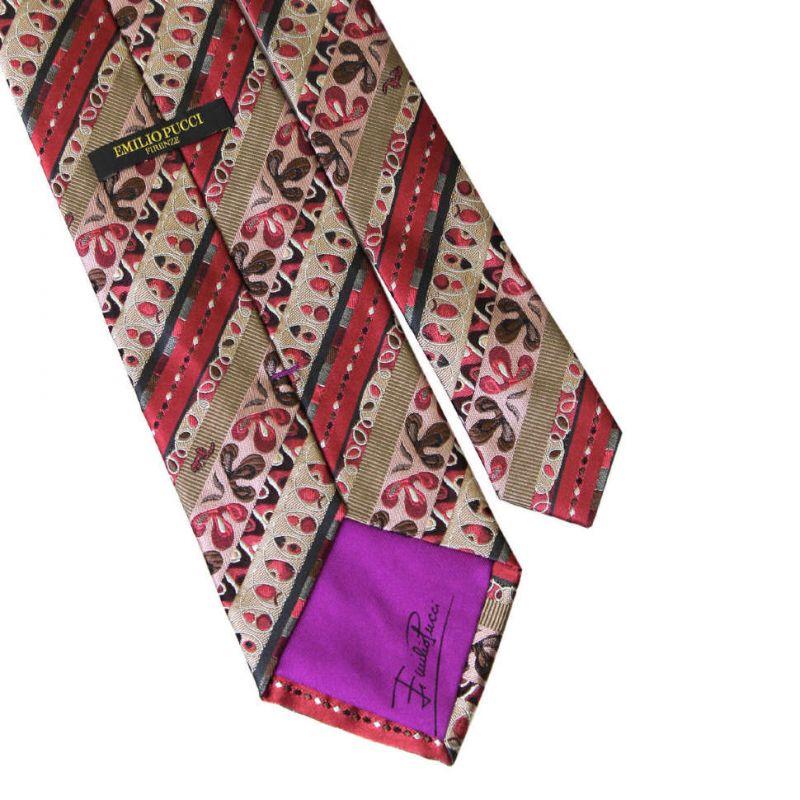 Шёлковый галстук Emilio Pucci с пёстрым узором