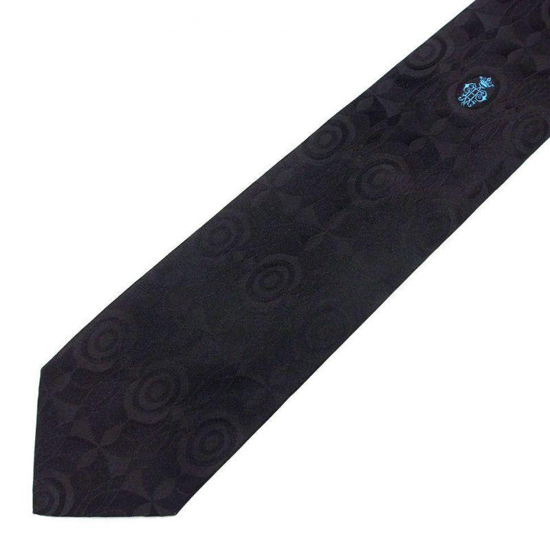 Чёрный галстук Emilio Pucci с выделкой