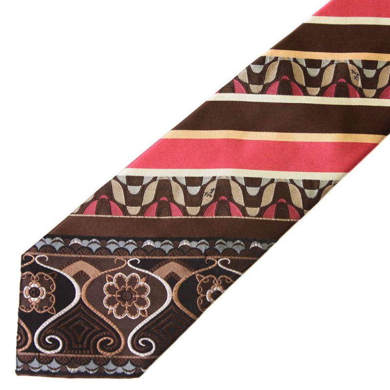 Коричневый галстук Emilio Pucci с декором