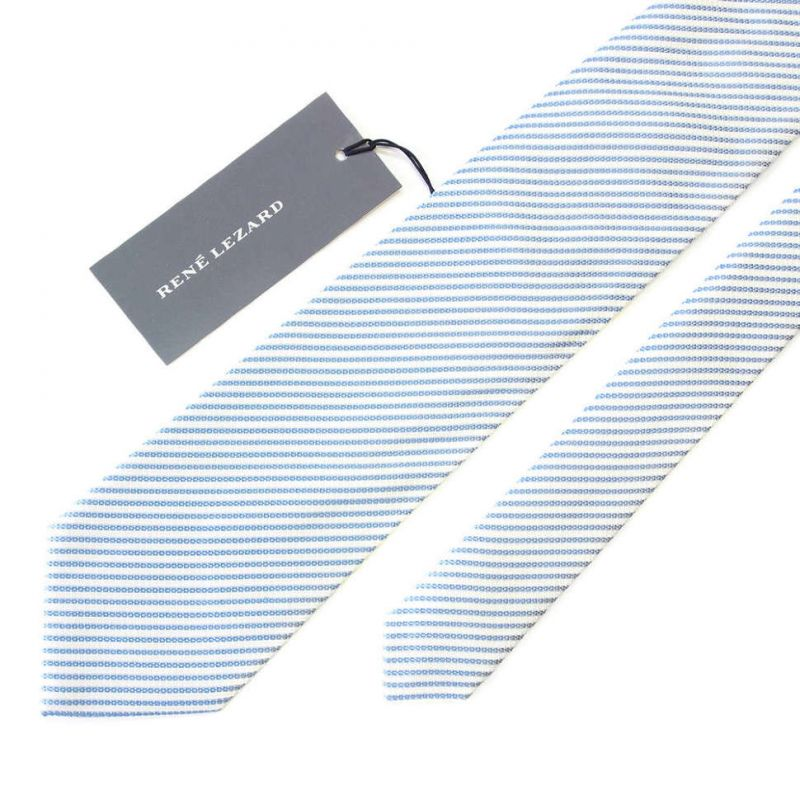 Голубой галстук Rene Lezard в тонкую полоску