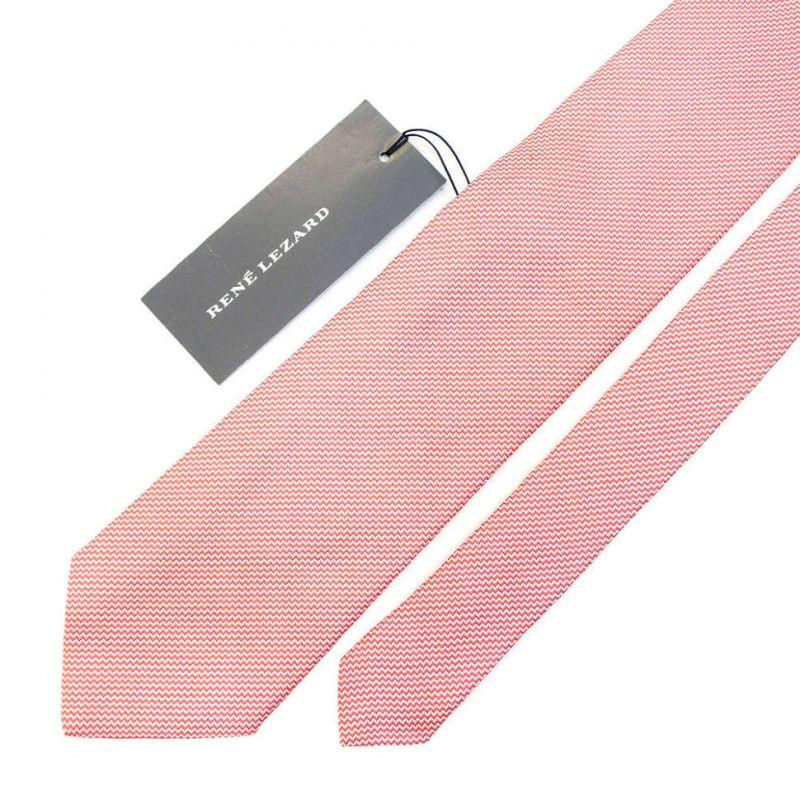 Розовый галстук Rene Lezard с зигзагами