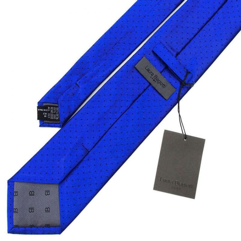 Ярко-синий галстук Laura Biagiotti с мелким рисунком