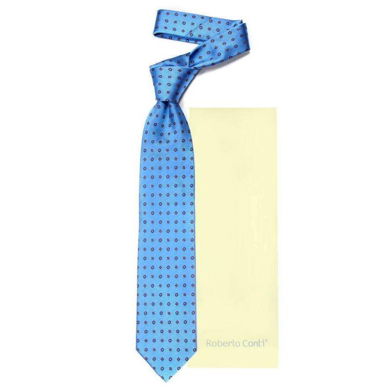 Голубой галстук Roberto Conti с фигурками