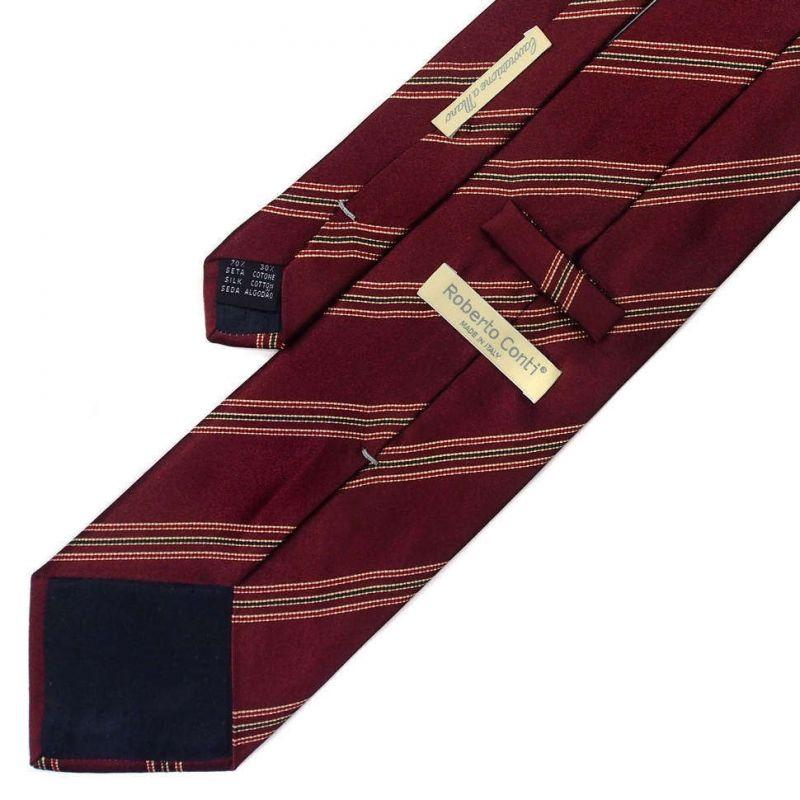 Бордовый галстук Roberto Conti в полоску