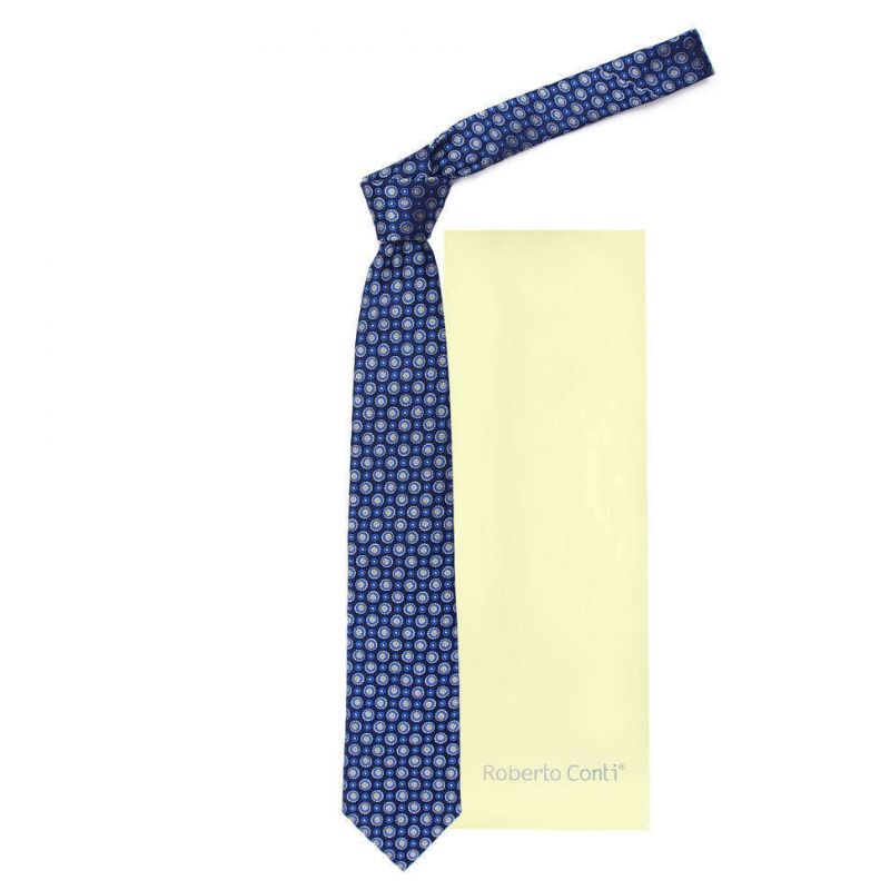 Синий галстук Roberto Conti в кружок