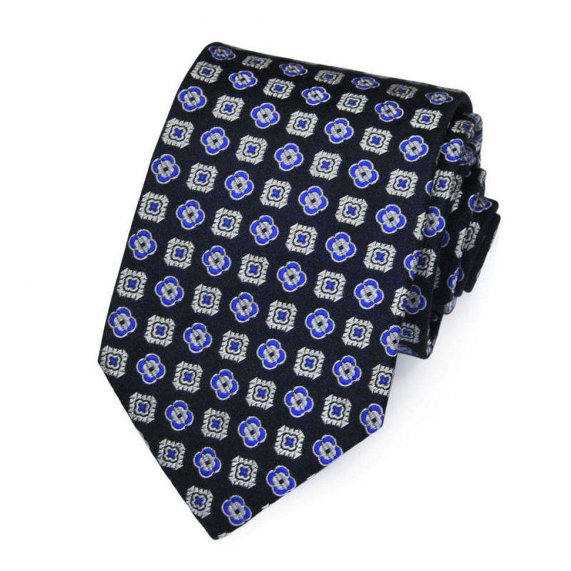 Тёмно-синий галстук Roberto Conti с рисунками