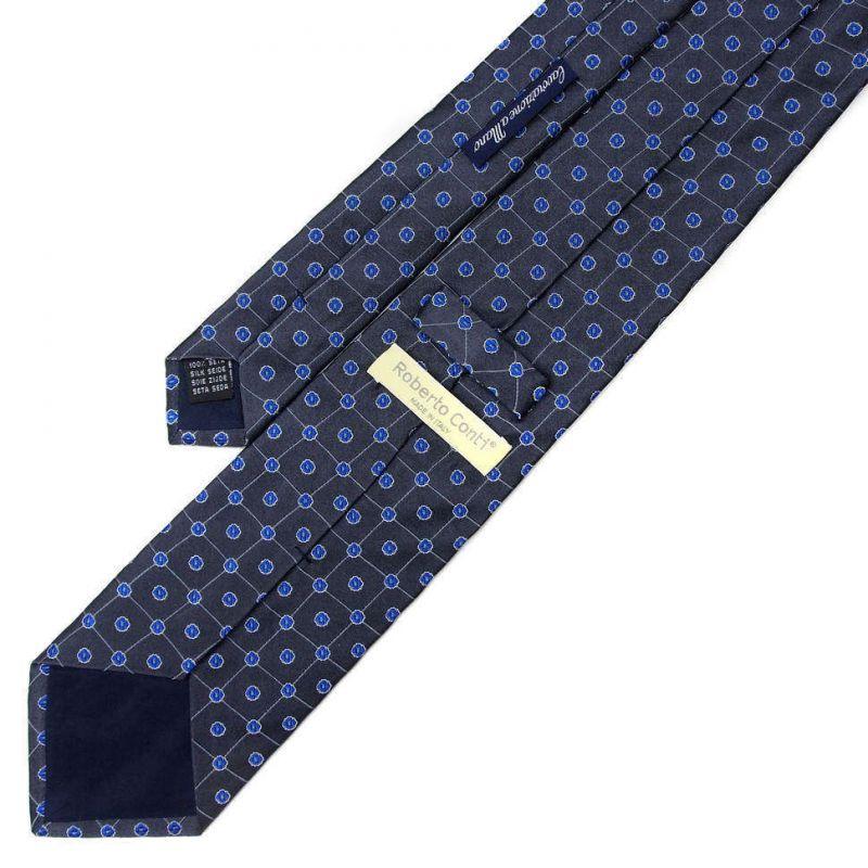 Серый галстук Roberto Conti с цветочками