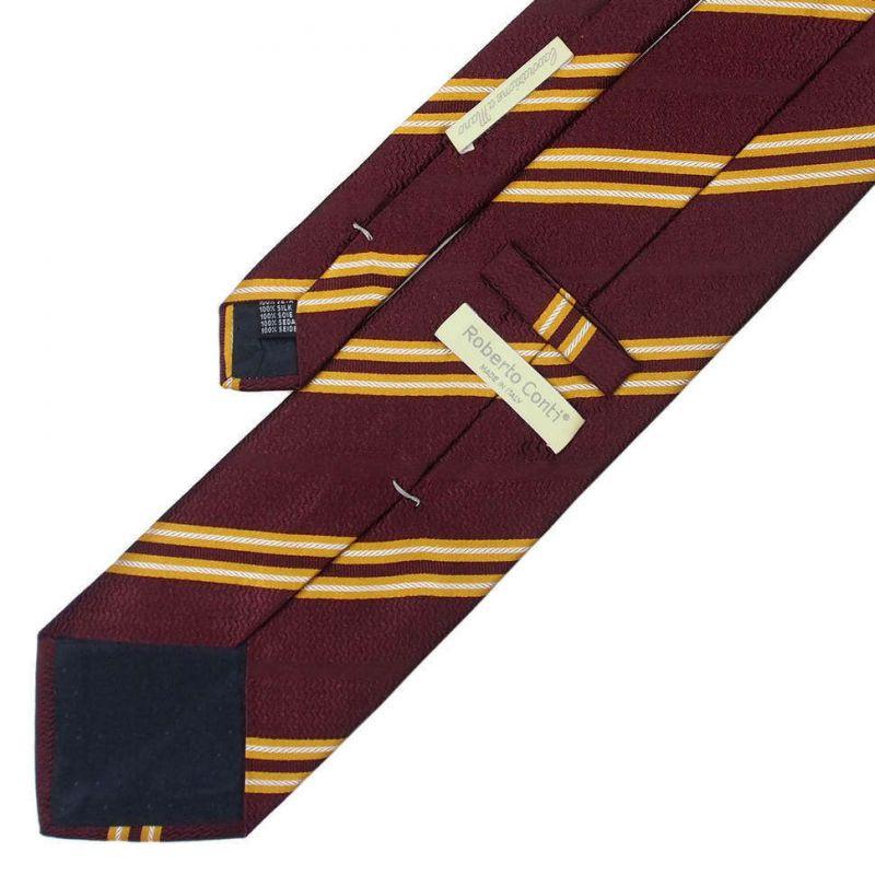 Тёмно-красный галстук Roberto Conti с полосками