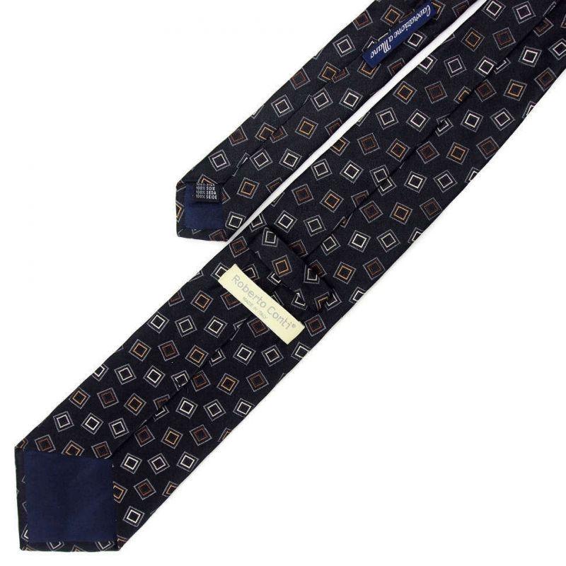 Серый галстук Roberto Conti с клетками