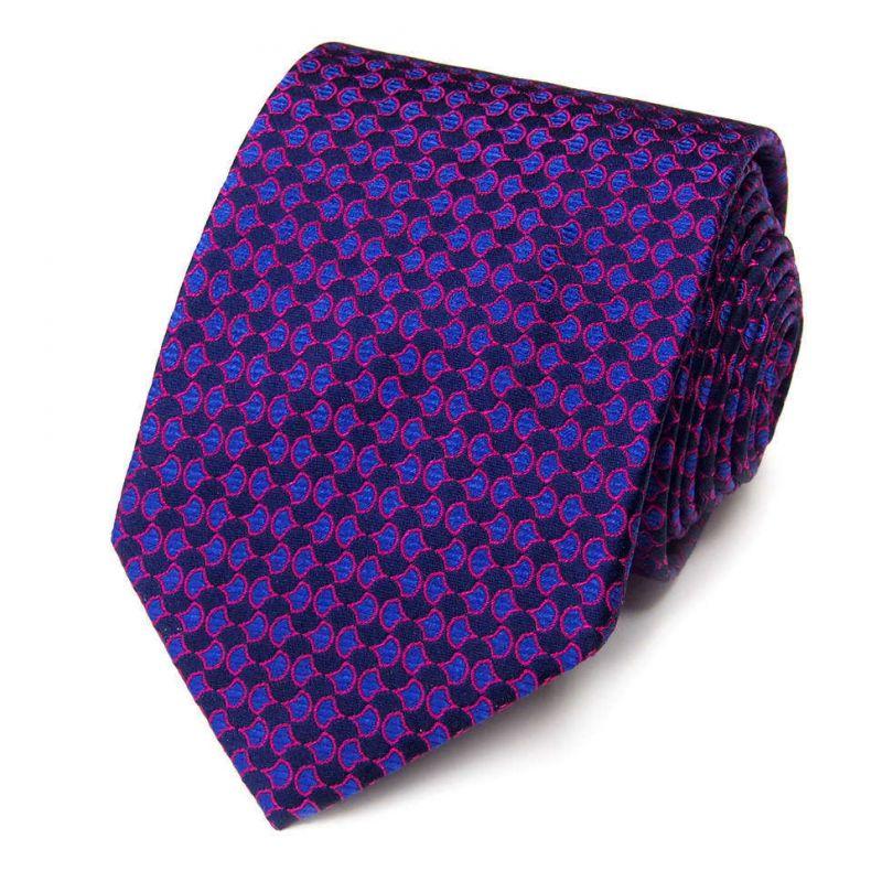 Фиолетовый галстук Roberto Conti с рисунком
