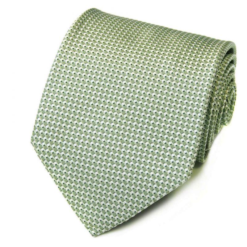 Зелёный галстук Kenzo Takada с мелкой выработкой