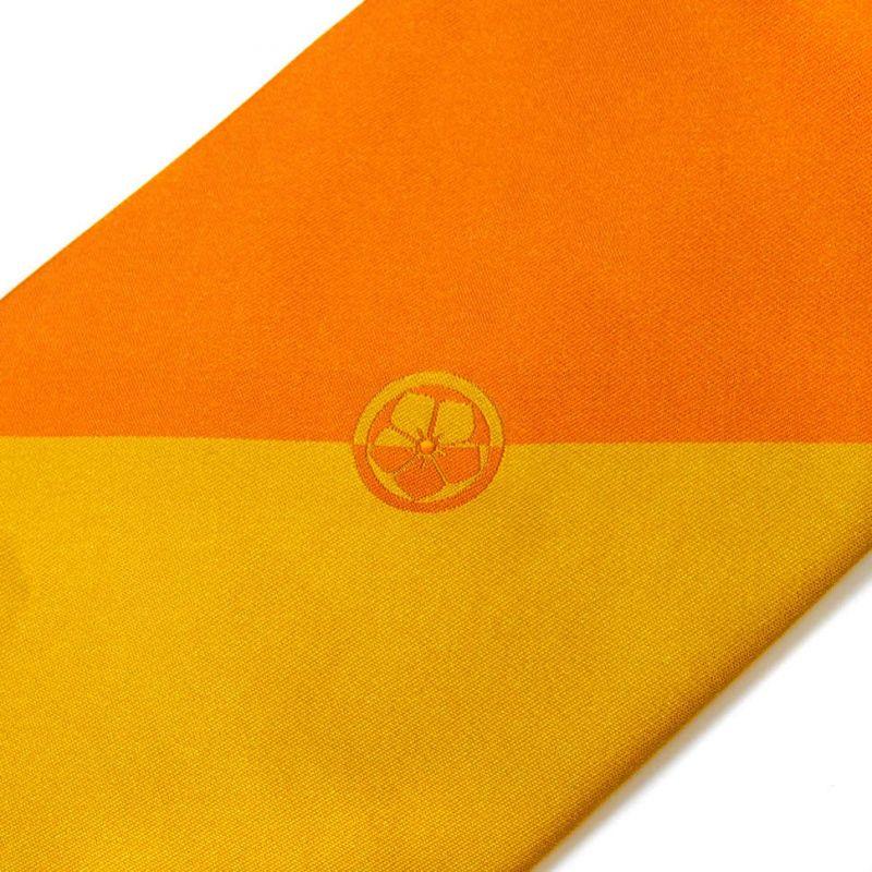 Жёлто-оранжевый галстук Kenzo Takada с цветочком