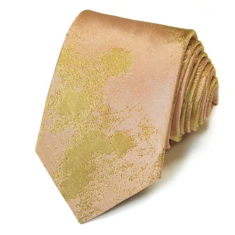 Розовый галстук Kenzo Takada с оливковым принтом