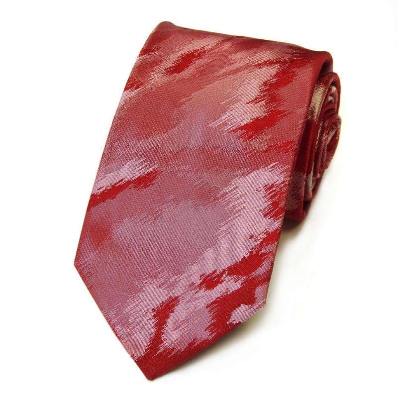 Бордовый галстук Kenzo Takada с абстрактным узором