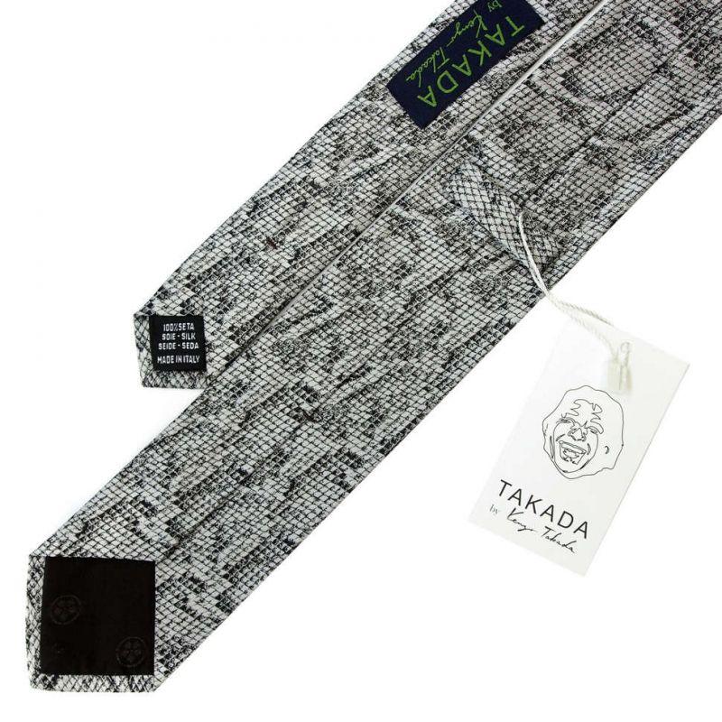 Серый галстук Kenzo Takada с рисунком - питон