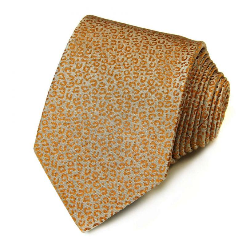 Бронзовый галстук Kenzo Takada с леопардовым рисунком