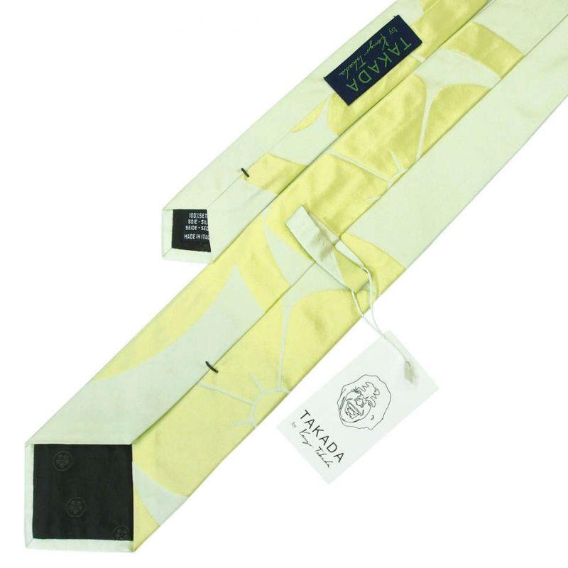 Салатовый галстук Kenzo Takada с большим цветком