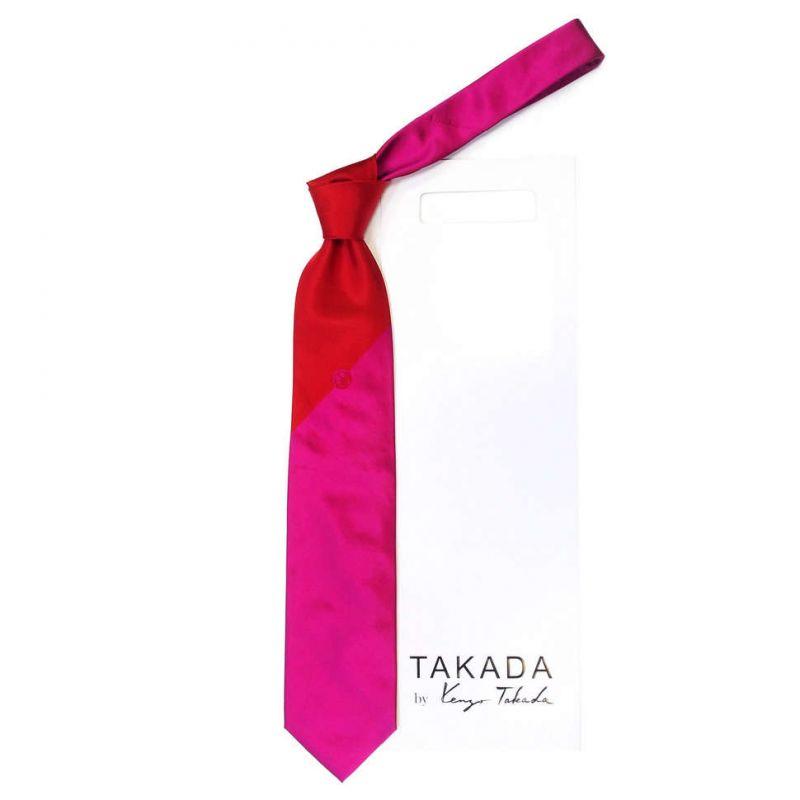 Галстук фуксия Kenzo Takada в двух оттенках