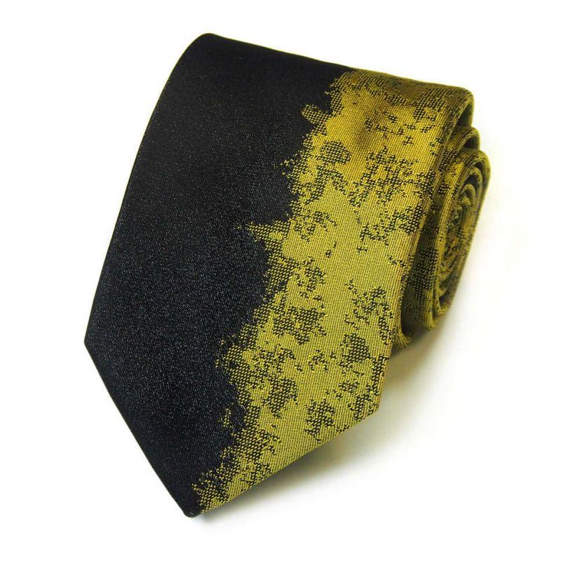 Двухцветный галстук Kenzo Takada чёрный с золотым