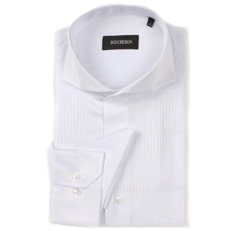 Рубашка белая в полоску неприталенная