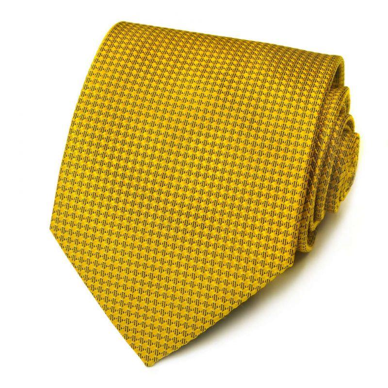 Золотистый галстук Kenzo Takada с фактурой