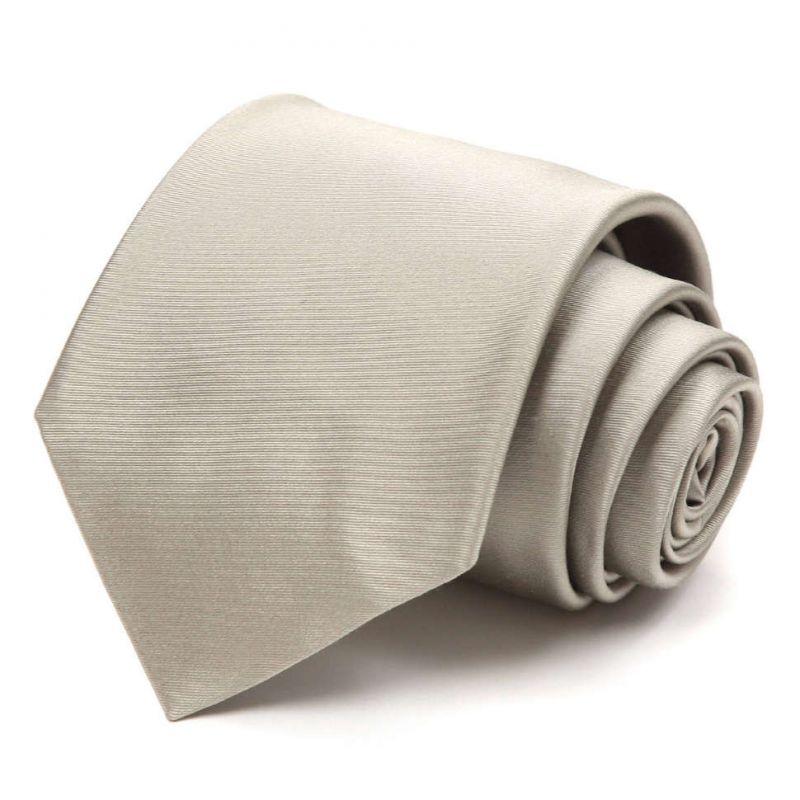 Серебристый галстук Nina Ricci без рисунка