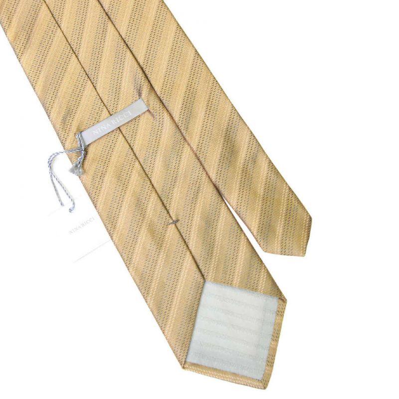Бронзовый галстук Nina Ricci в полоску