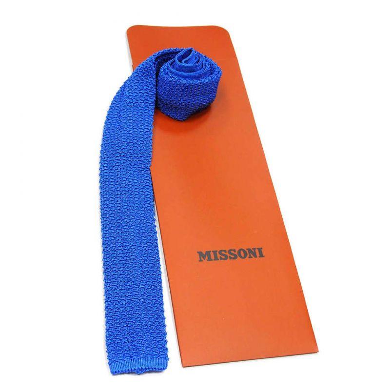 Вязаный галстук Missoni синего цвета