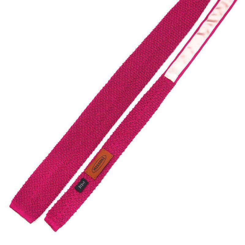Вязаный галстук Missoni цвета фуксия