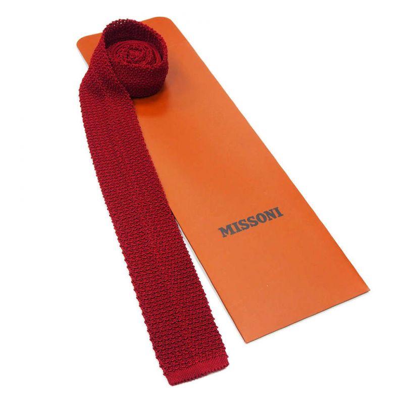Вязаный галстук Missoni красного цвета